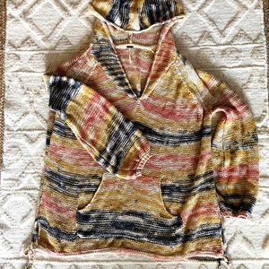 Free People Hooded Sweater Tunic